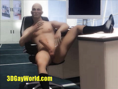 Sex and Virtual Cumshots in Office